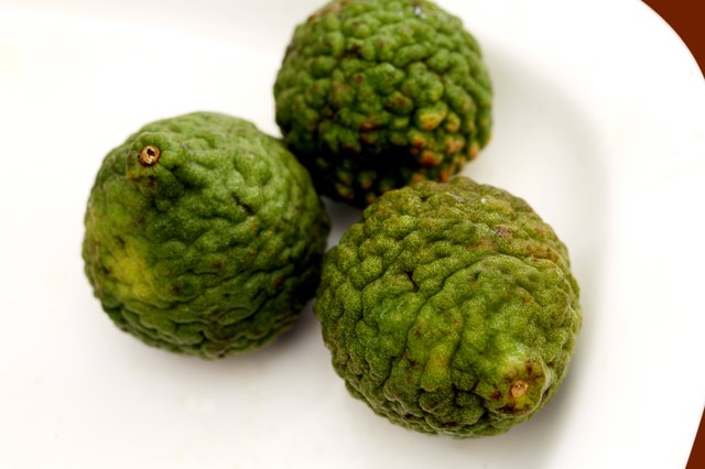 Close-up of a custard apples in a plate