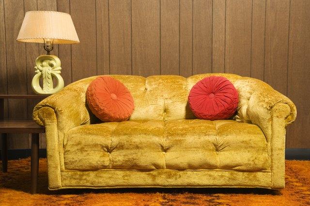 Still life of retro style room.