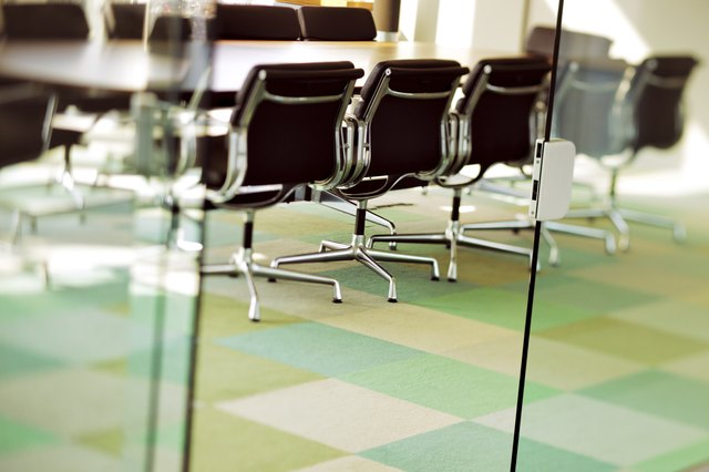 Contemporary boardroom is ready for the next board meeting
