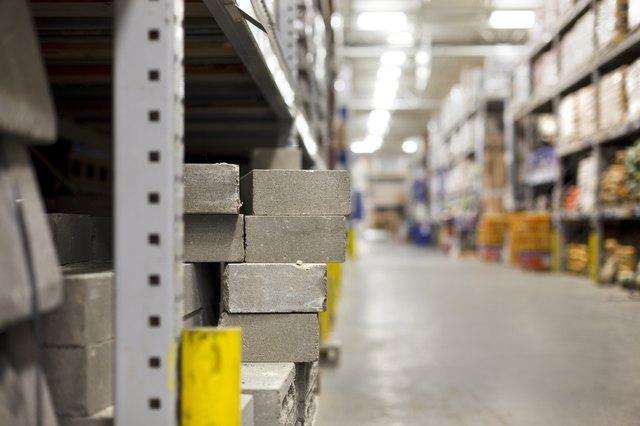 Concrete blocks in the hardware store