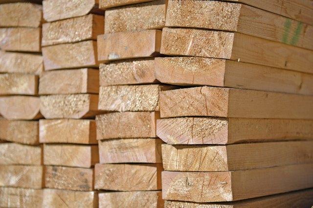 Lumber Close-up - Stock Image