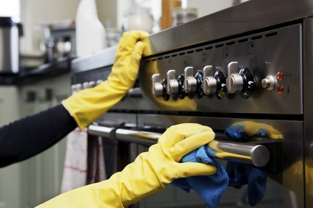 Oven Cleaning in Kitchen
