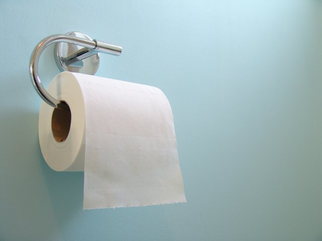 Toilet Roll on Blue
