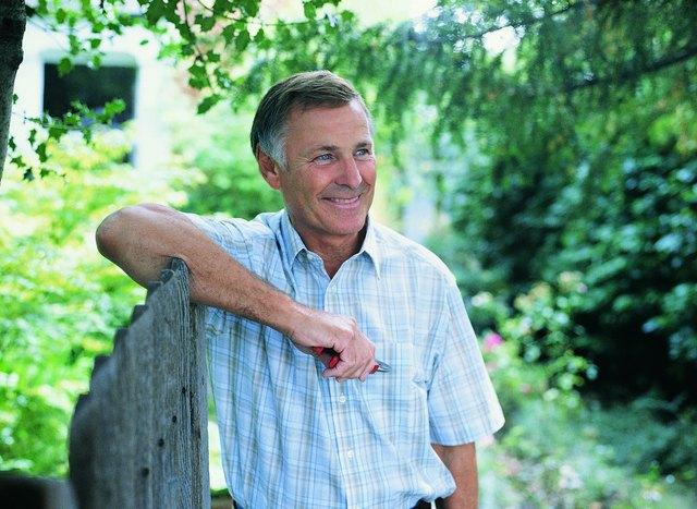 Portrait of a Senior Male Holding Secateurs