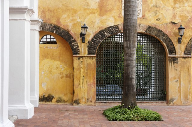 Historic Colonial Courtyard in Colombia