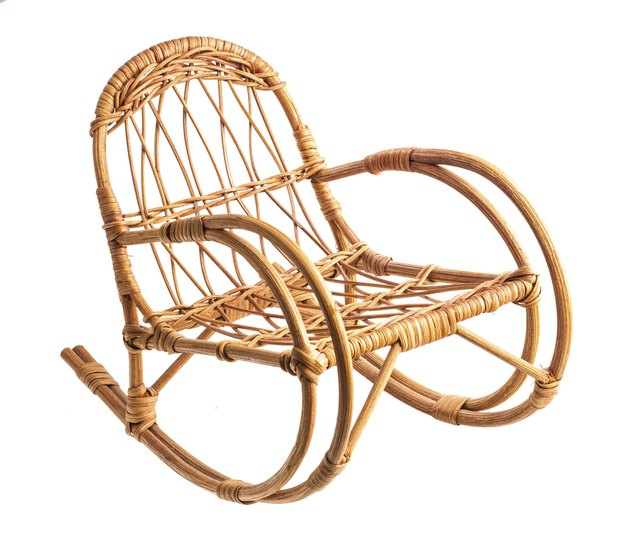 Rocking wicker chair