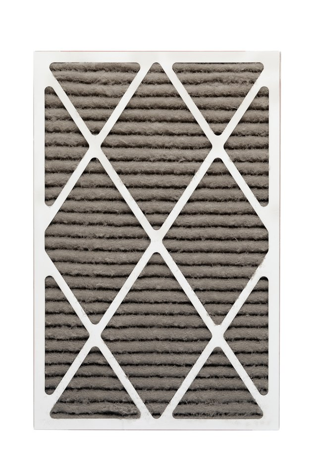 Furnace or HVAC Filter Clogged With Dust and Allergens