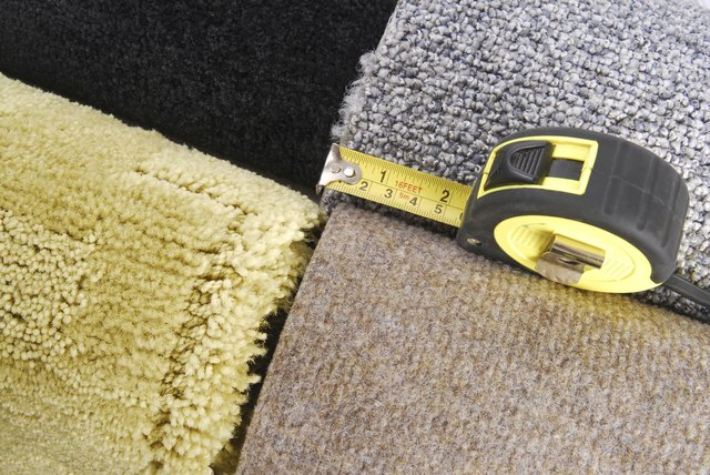 Carpet pieces and tape measure.