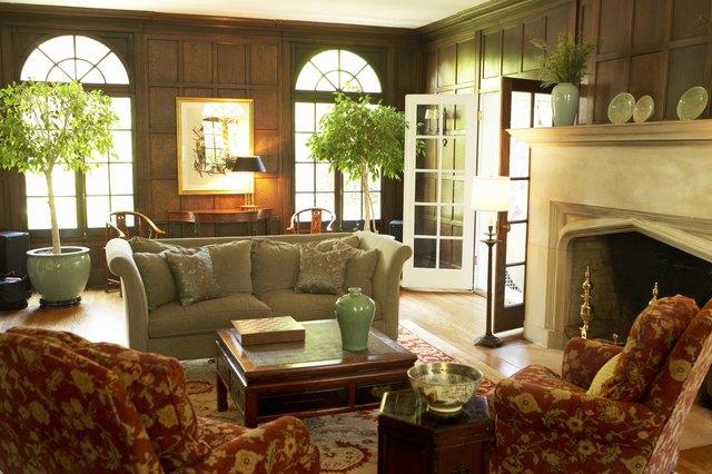 Living room of affluent home