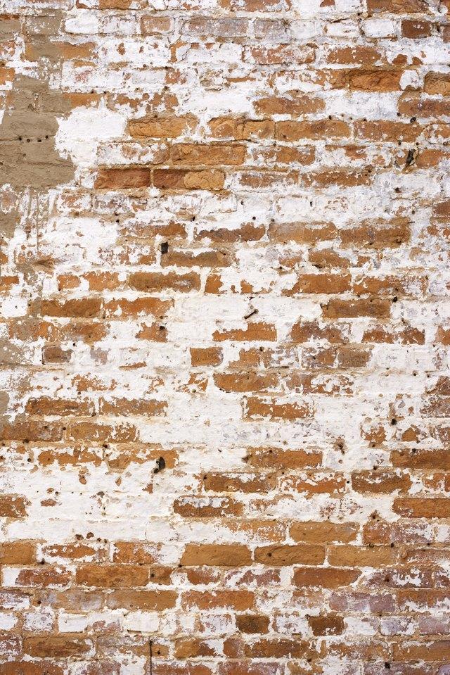 Decaying brick wall