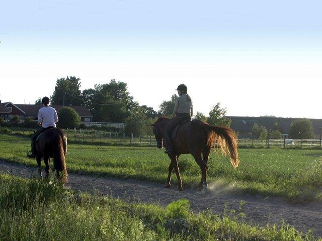 People riding horseback