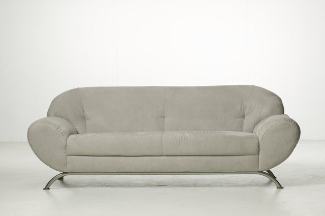 Empty sofa in studio