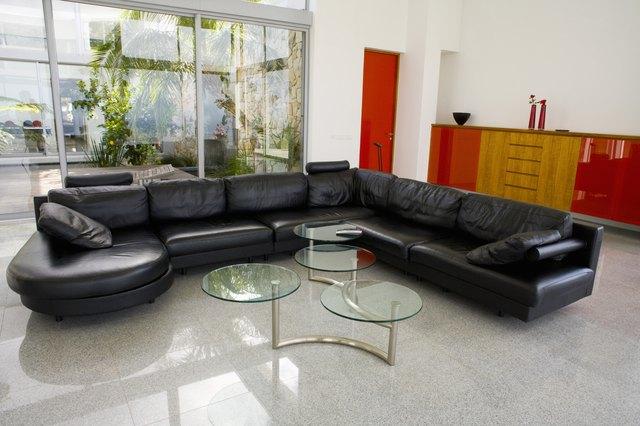 Modern living room and atrium