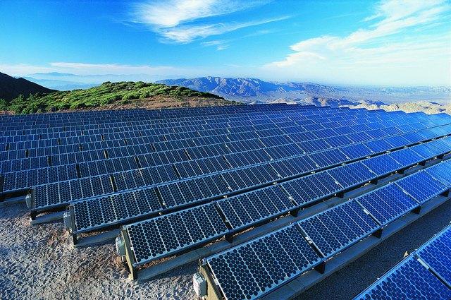 Solar Power Panels, Mt. Laguna, California, USA