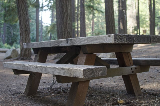 Standard Size For Picnic Tables Hunker - Standard picnic table size