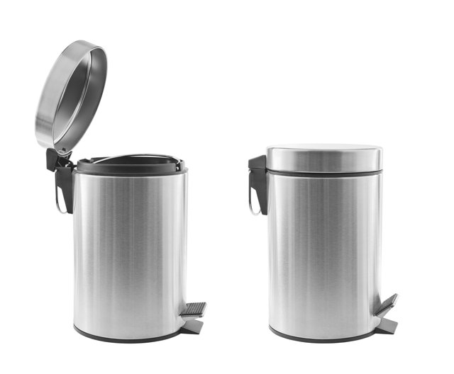 Trash cans isolated