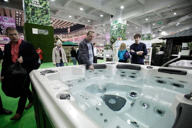 Visitors Explore The Ideal Homes Show