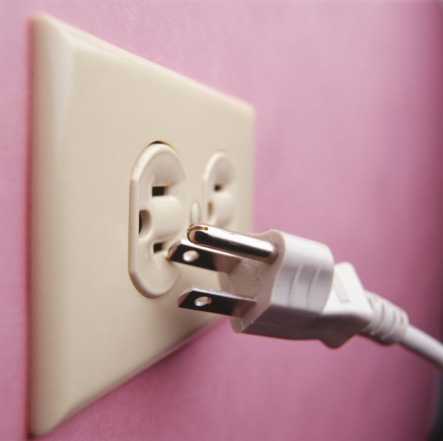 Plug and electrical outlet, (Close-up)