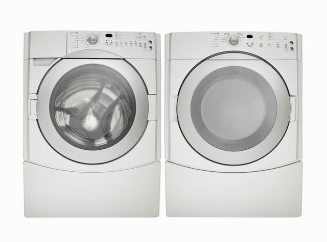 Washing machine and dryer, white finish