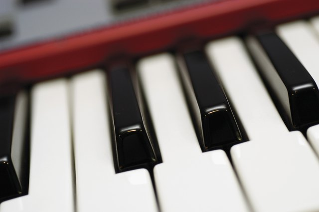Close-up of electric keyboard