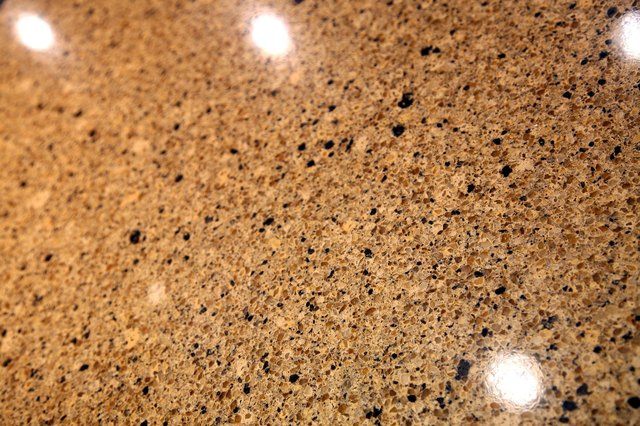 Close-up of polished granite countertop