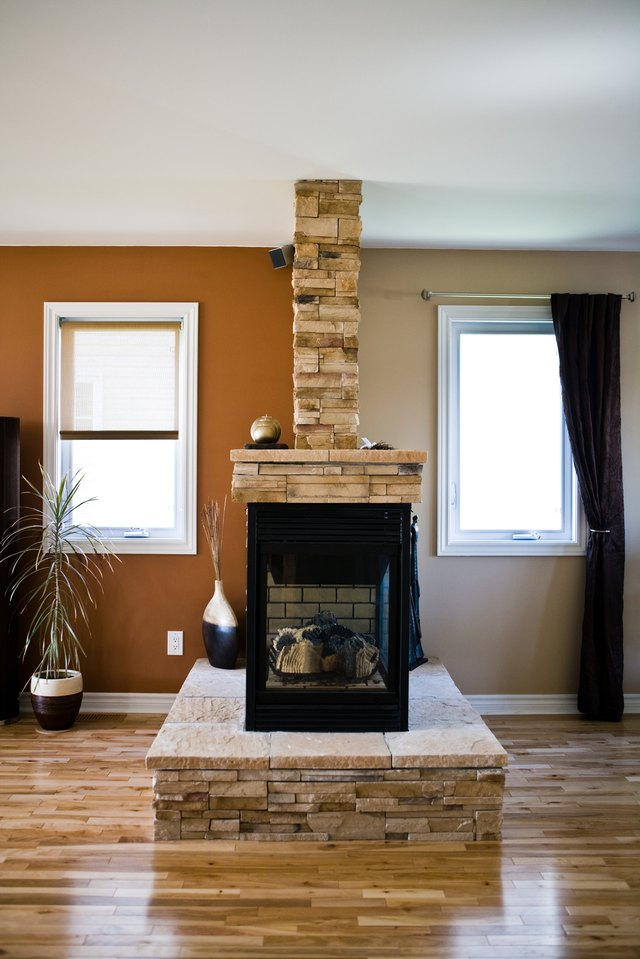 Interior of home with wood stove