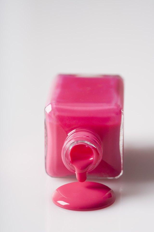 how to get fingernail polish out of a bathroom sink hunker. Black Bedroom Furniture Sets. Home Design Ideas