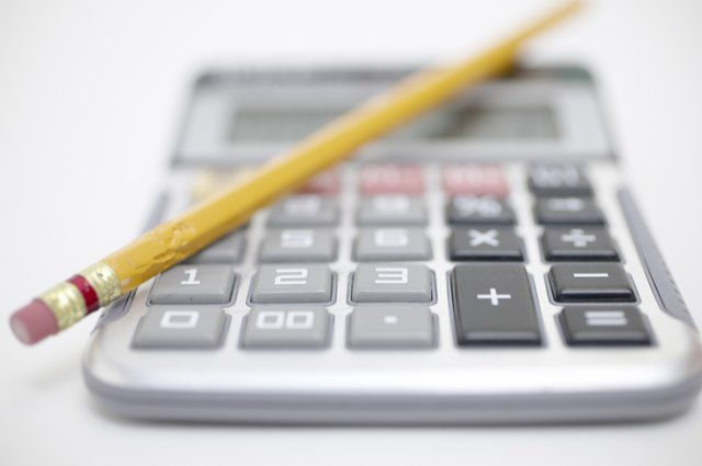 Pencil on calculator