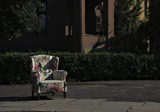 discarded sofa-2- on the street