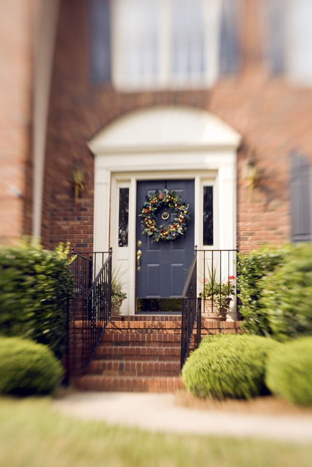 How to pick a front door color for a brick home hunker - Front door colors for brick houses ...