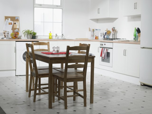 Domestic Kitchen With Table And Chairs