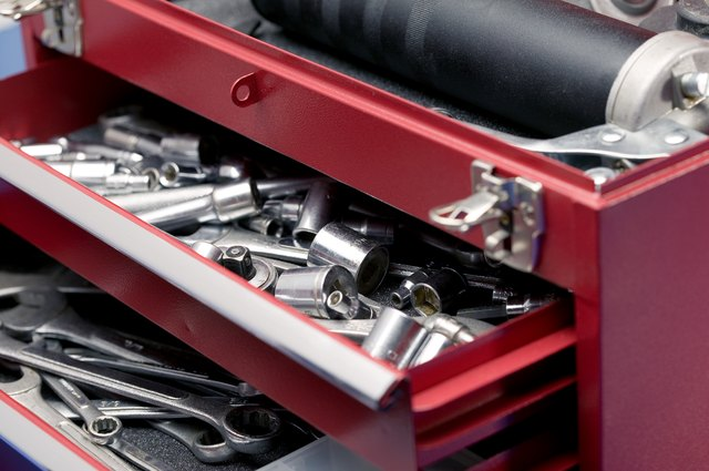 Drawers containing tools