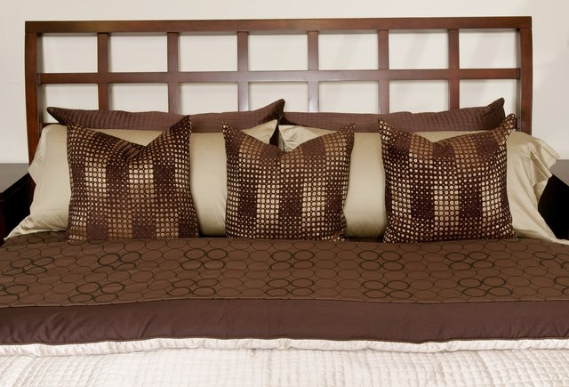 Contemporary bed with pillows