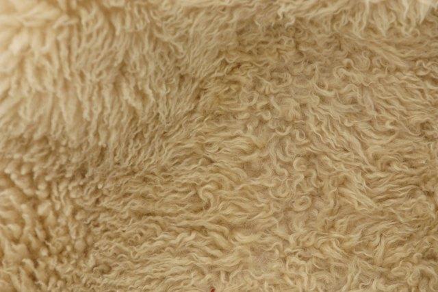 Close-up of fluffy carpet