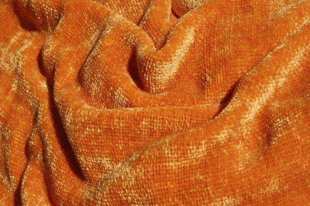 Orange Chenille Fabric