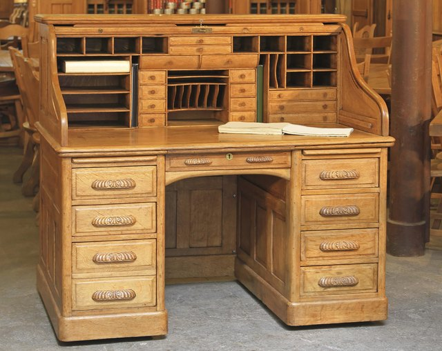 Rolltop desk - How To Determine The Age Of An Antique Roll-Top Desk Hunker