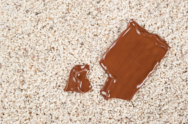 Chocolate bar dropped on carpet