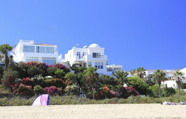 Luxury beachfront holiday villas.