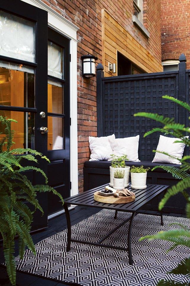 black painted deck