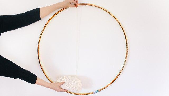 Measuring diameter of hula hoop
