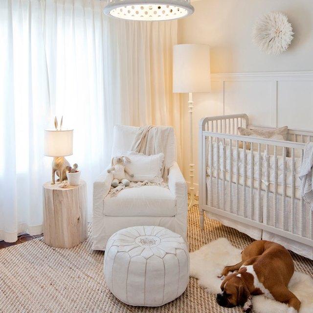 all white nursery