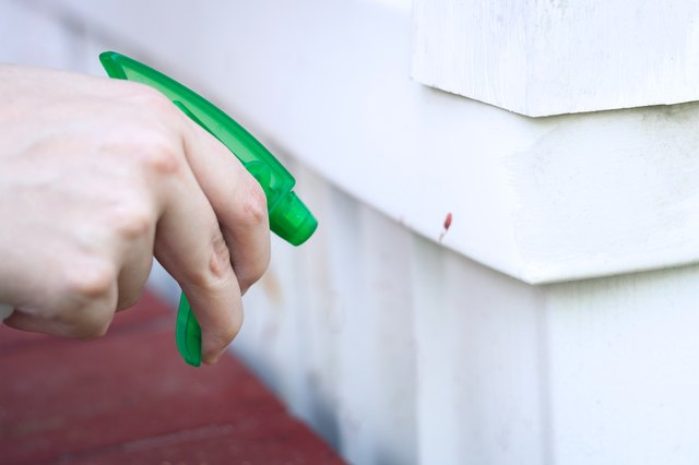 how to clean stained vinyl siding