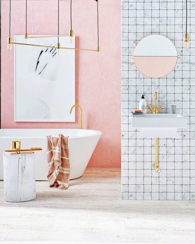 millenial pink bathrooom
