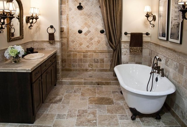 Tuscan style bathroom