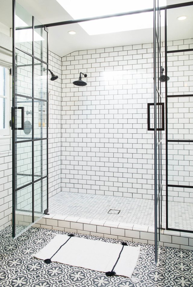 Hexagon Tile. Shower Floor
