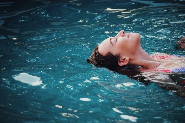 Soaking in clear water.