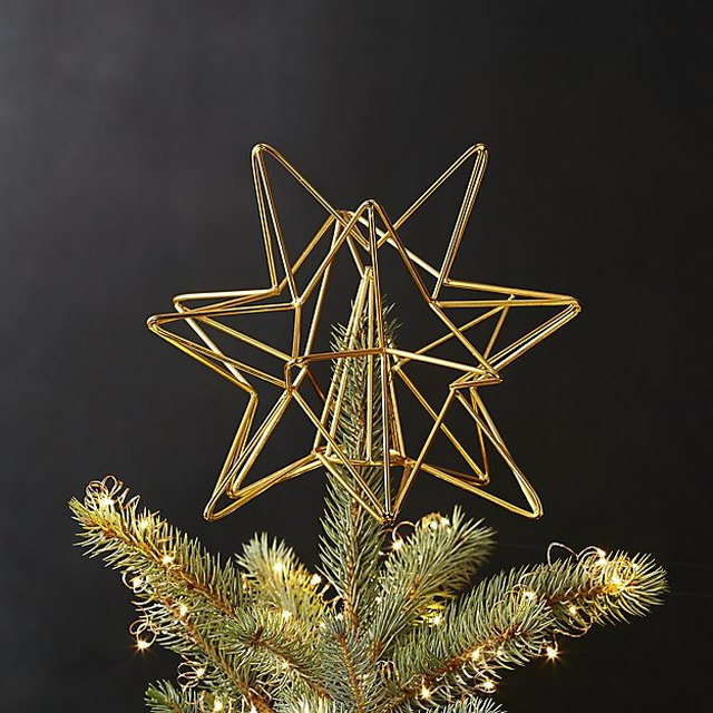 cb2 tree topper - Unique Christmas Tree Toppers