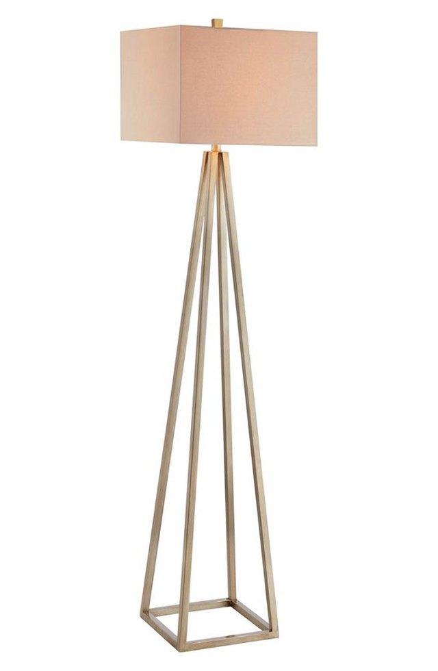 Open Caged Metal Floor Lamp