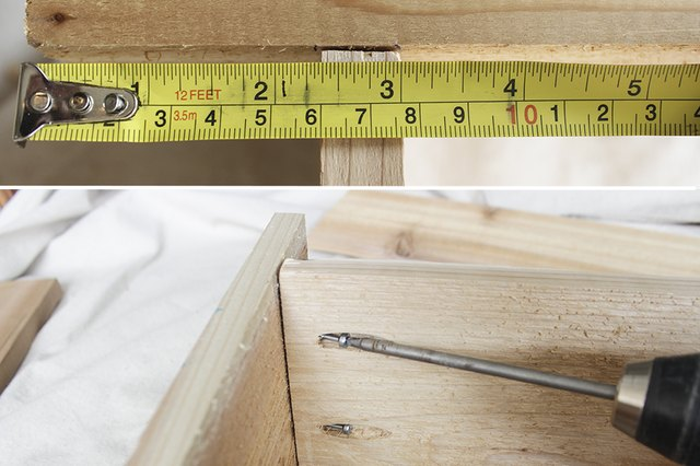 Top of frame measures 3 inches from top of sides.