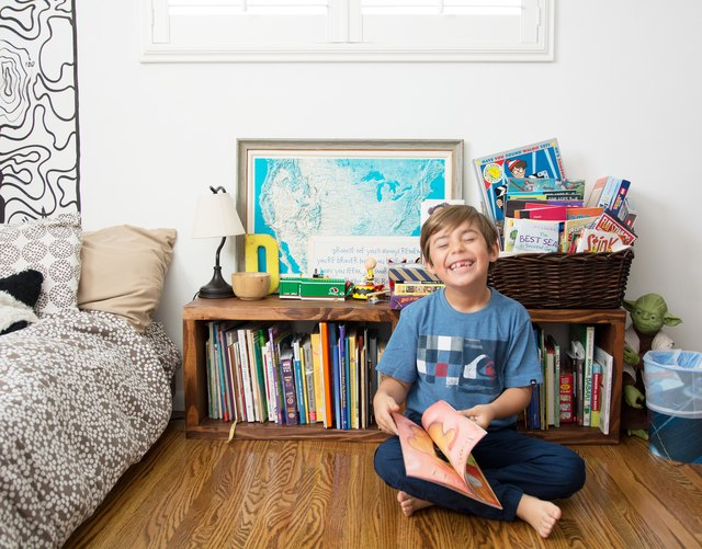 David in his bedroom.